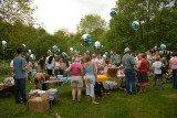 The Gathering of People at The End of The Duck Race