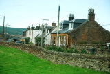 Row of Typical Houses in Scotland on Way to Drunfries