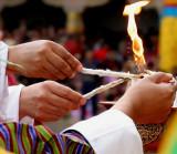 lighting ceremony at festival