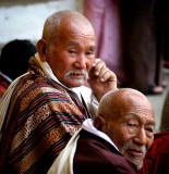 two elderly men-Bhutan
