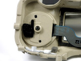 Note that the Mode Dial assembly is put on to the 