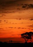 Sunset at Corona Del Mar Beach