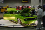 Lime Green Camaro front 3/4