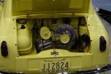 Yellow Engine bay