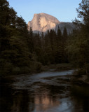 Half Dome at Sunset from the Sentinel Bridge.jpg