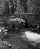 Tenaya River Bridge Black and White.jpg