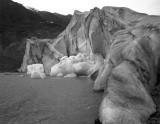 Exit Glacier River View Black and White.jpg
