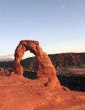 Delicate Arch at Sunset with the rising moon.jpg