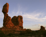 Balanced Rock at Sunset with Rising Moon wide.jpg