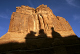 Shadow of the Three Gossips on Courthouse Towers at Sunset.jpg