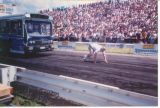 Pulling a bus at Summernats 1996