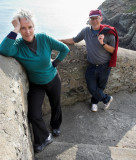 Liz and Tony at the South Stack steps.