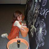 Dust 'n Light show collaborative chalkboard