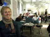 Karin in cafe Smäck, Umeå