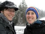 Me and Karin and lots of snow in November