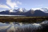 Mountains and Vatnajökull glacier