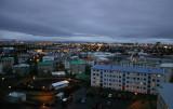 Reykjavík at dusk