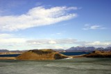 Semi craters in Mývatn area