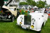 White 1953 Rolls Royce, Car Show, Long Grove