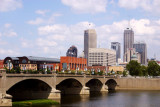 Skyline of USA's 13th largest city,Indianapolis