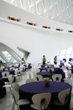 Orchid centerpieces, Milwaukee Art Museum
