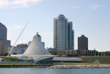 View of the museum from the pier, Milwaukee