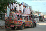 Crowded bus in Bhimber