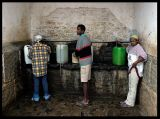 Getting water in Cachaca - Sao Nicolau