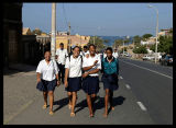 Schoolgirls in Mindelo - Sao Vicente