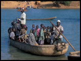 Crossing the River Gambia at Basse