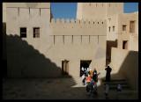 School children visiting Nizwa Fort