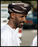 Omani man at market place