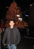 Me with Big Christmas Tree in the bg