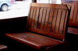 NO8997 Wood trolley seats