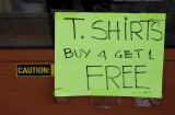 NO9560 Caution - Free T shirt