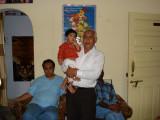 Y K Sharma with grandson Aman Tarapur