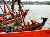Happy Fisherman at Chon Buri