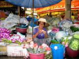 Flower Lady at Nathaburi Market