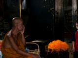 Elderly Monk Talking to a Small Boy at Wat Phananchoeng,  Ayuthaya