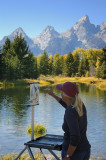 9/21/07 - Painting the Tetons
