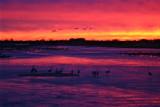 Platte River at Sunset near Kearney