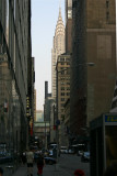 NYC--Urban canyon with Chrysler Building