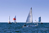 Sailing off Edgewater Park