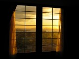 Evening view through window (Song-Do, Incheon)