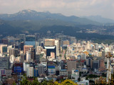 View over centre of Seoul