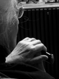 anciana con baston