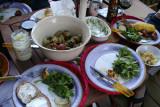 feast in progress