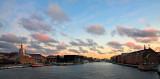 Harbour sunrise pano