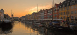 Nyhavn sunset panorama