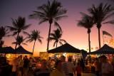 Mindil Beach Market palm trees at dusk